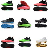 le plus récent Crampons Mens Phantom Elite VSN DF Pro Superfly XII 12 Chaussures Haute cheville Football Ombre Surge Fury Football Bottes CR7 Crampons