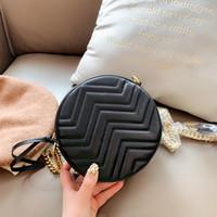 La bolsa de diseñador totalizadores Mini Mano Bolsas de hombro Chian 2020 bolsa nueva de las mujeres bolsos de cuero para mujer de pequeñas y redondas bolsa de mensajero Bolsas monedero del hombro