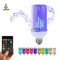 Flame Bulb Light Bluetooth Speaker Audio Music RGB Bulb Lamp...