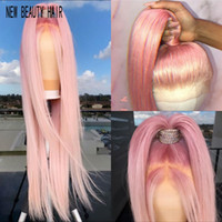 Новый # 613 синий / розовый / фиолетовый / желтый красочный бразильский прямой кружевной фронт парик предварительно сорванные кружева фронтальные синтетические волосы парик для женщин