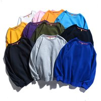 ZHIJING New Style Solid Color Crew Neck Long-sleeved Men and Women Casual Tops men hoodies