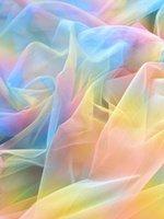Sfondo Materiale Ins Rainbow Gradient Mesh Garza Holding Holding Puntelli Pod Pografia Accessori per i cosmetici Shooting Manicure