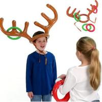 200pcs drôle renne Antler Chapeau de palet Party de Noël Fêtes jeu jouets d'enfants d'enfants Jouets de Noël