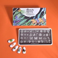 Nail Art Templates Beauty BigBang Stamping Plates Nature Flower Butterfly Bird Theme Image Stainless Steel Template XL-095