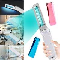 USB UVC Стерилизация свет Портативный складной Дезинфекция лампы на батарейках Ultraviolet озоно- Бактерицидные свет для домашнего туалета автомобиля Pet