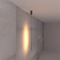 Minimalista Camera Comodino Geometria Striscia Linea Lampada a sospensione LED parete Pendant Light Modern Living Room TV Hanging Light Fixtures