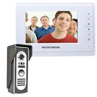 Video-Türsprech 7''Inch Wired Video-Türsprech Visuelle Intercom-System-Türklingel-Monitor-Kamera-Kit für Home Security