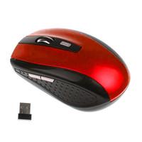 2.4GHz ratón óptico USB inalámbrico USB Ratones receptor de ratón sueño elegante de ahorro de energía para el ordenador portátil Tablet PC de escritorio