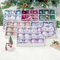 Decoração de festa 2021 12 pcs / definir bola de árvore de natal bola decoração bugiganga ornamento 6cm decorações para casa presentes Xmas