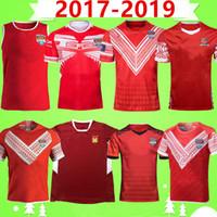 2017 2019 Tonga Rugby League City camiseta de la selección de rugby de tenis casa Fuera de juego 17 19 Liga POLO ropa de los niños camiseta del chaleco