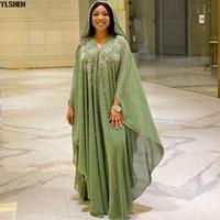 Longueur 150cm Afrique Robe Africaine Robes pour femmes Dashiki Diamond Perlé Boubou Traditionnel Vêtements Afra Abaya Musulman Robe