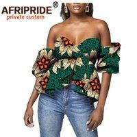 Afrika Kırpma Üst Kadınlar Için Dashiki Baskılı Gömlek Moda Seksi Parti Ankara Giyim Artı Boyutu Walm Wax Pamuk A2022001