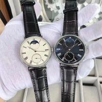Новая мода стиль платье часы мужчина часы руки ветер механические часы черные кожаные мужские наручные часы прозрачное стекло спина 022-2