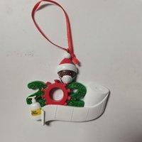 2020 Quarantine Weihnachtsdekoration Geschenk African Harz Weihnachtsbaum hängende Verzierung Weihnachtsmann mit Maske Figur 7 Personen LJK2479