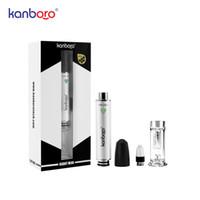 Kanboro gigante mini cera dab lápiz e-cigarrillo kit portátil kit de inicio vaporizador vaporizador vape pluma 510 clavo cera dab rígido vidrio agua tubo