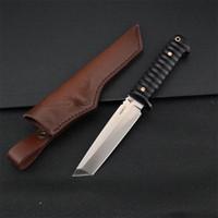 Supervivencia de calidad superior rectas cuchillo cuchillos DC53 hoja al aire libre que acampa yendo de caza fijados EDC Cuchilla