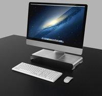 مراقب الألومنيوم حامل العالمي للكمبيوتر الناهض خشبية سطح المكتب قوس الكمبيوتر المحمول تقف ل PC Macbook دفتر التلفزيون مكتب المنزل