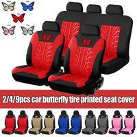 Neue Universal-Schmetterling um Autositzbezüge vorn hinten Kopfstützen Lenkrad Gurtauflage Full Set Auto-Innendekoration