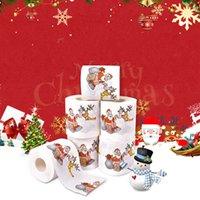 메리 크리스마스 화장실 종이 크리 에이 티브 인쇄 패턴 시리즈 서류 패션 패션 재미 있은 참신 선물 에코 친화적 인 휴대용 50pcs t1i2445