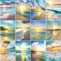 Evershine 5D Diamant-Stickerei Sea Pictures Of Strass Mosaik Diamant Gemälde Landschaft Kreuzstichpackungen Home Decoration