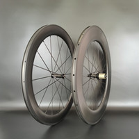 700C الجبهة 60 ملليمتر الخلفية 88 ملليمتر عمق الطريق الكربون عجلات 25 ملليمتر عرض الطريق الدراجة الفاصلة / أن أنبوبي الكربون العجلات مع novate 61/62 hub