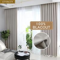 1 Adet Solid Salon Ev Dekorasyonu Kalın Sahte Keten Perdeler% 100 Blackout Perde Yatak Odası Hazır Made hakkında