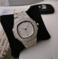 증권 빛나게 다이아몬드 디자이너 시계 남성 명품 시계 아이스 아웃 남성 석영 운동 당 손목 시계 여자에