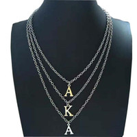 Beyou Greek Sorority AKA letters Multilayer chain Custom Nec...