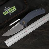Зеленые джинсы шипа отворотом складной нож D2 сталь лезвие TC4 титана ручка на открытом воздухе кемпинга охотничий нож практичный кухонный нож EDC фрукты тоже