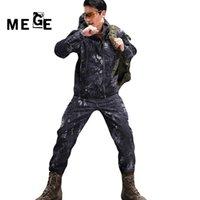 MEGE Men Jackets TAD Hunting Hiking, Outdoor Sports SoftShell Sharkskin Autumn Winter Clothing, Windproof Hoodies, Coat