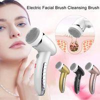 4 IN 1 Gesichtsreinigungsbürste Sonic Vibration Mini Gesichts-Reinigungsmittel Silikon-Tief Pore Reinigung Elektrische Gesichtsmassage Wasserdicht
