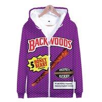 Kış Erkek ceketler ve Coats Backwoods Bal Berry 3D Hoodie Fleece Fermuar Kapşonlu Sweatshirt Dış Giyim Streetwear Komik Giysiler
