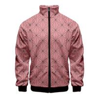Herren Jacke Art und Weise 3D Druck Stehkragen Reißverschluss-Jacken-Männer / Frauen Harajuku Kimetsu keine Yaiba Sweatshirt-lange Hülse Casualjacken Kleidung