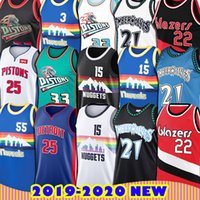 Minnesota Kevin Garnett Timber Jersey Dikembe Nikola Mutombo Jokic Denver Allen Iverson Nugget Grants Detroit Derrick Rose Hill Piston