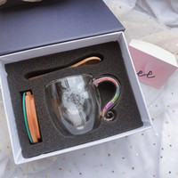 250ml Starbucks Coupe double couche Bouteille d'eau Tasse de jus de café avec cuillère et couvercle Produit cadeau