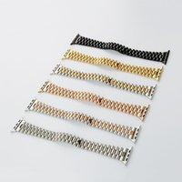 Sólido Oyster de acero inoxidable para la muñeca para banda de reloj de Apple 42 de 44 mm de reemplazo de bucle pulsera de iWatch Serie 5 4 3 2 Accesorios 1strap