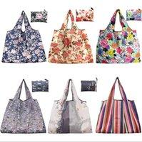 Dobrável sacos de compra nylon impermeável armazenamento Bolsa Eco-Friendly Folding Bag saco de mantimento na moda de compras dos desenhos animados Shoulder Totes E81802