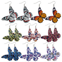 Pretty Butterfly Earring Best lady Fashion Leather Earring For Women Wedding Luxury Jewelry Boho Elegant Dangle Statement Earrings