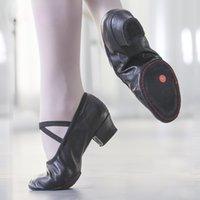 천연 가죽 발레 댄스 신발 여성 중동 발 뒤꿈치 여자 재즈 댄스 신발 밸리 요가 신발 Teacherss 어린이 성인