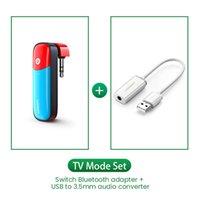 Freeshipping Bluetooth 5.0 Transmitter 3.5mm Audio Adapter Design for Nintendo Switch APTX LL Wireless Transmitter