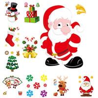 Babbo Natale elettrostatica Wall Sticker Incollare finestra di vetro di Natale fai da te Adesivi dirigono la decalcomania Decorazione di Natale Capodanno