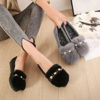 los zapatos de piel de conejo de fondo grueso, más calor suave terciopelo zapatos inferiores rollo de huevo carne de vacuno tendón de damas de coincidencia de colores de fondo solos zapatos