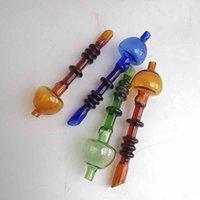 Bico de vidro colorido bico de vidro Bubble Cabble tubulações de fumar acessórios com palha de palha de ferramenta de Dab Dabber para hookahs water bongs plataformas petrolíferas