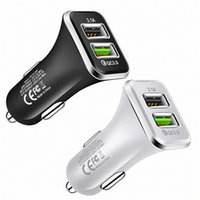 Dual Usb Car Charger 6A Fast QC3.0 Quick Charging Car Chargers For IPhone 7 8 x samsung htc andorid phone gps pc