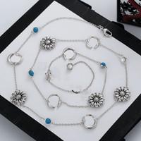 منتج جديد سحر طويل قلادة الفضة مطلي سلسلة قلادة إلكتروني مينا قلادة للمرأة إمدادات المجوهرات