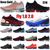 2.0 Fly 1.0 Koşu Ayakkabıları Erkek Kadın BHM Kırmızı Orbit Metalik Altın Üçlü Siyah Tasarımcı Ayakkabı Sneakers Eğitmenler 36-45