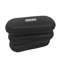 Mini caso de cuero con cremallera bolso de la caja ego vaporizador envasado de ego-t CE4 evod la batería en forma de cigarrillo electrónico de hierba seca vaporizador vaporizador cera pluma