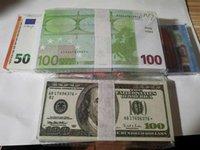 Meilleur et le plus réaliste Prop prétendez des euros Dollars Dollars Paper Copier Banknote PROP BAR BAR PROPS DE L'ARGENT 100PCS / PACK 01