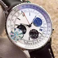 Chronograph Relógios dos homens de homens Eta Automática 7750 Assista homens de pulso Data 43 milímetros Esporte JFF Fábrica Valjoux Couro V2 Versão Cronômetro