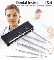 6pc / set soins dentaires Hygiène bucco-dentaire Kit pour les dentistes Accueil Utilisez le nettoyage des dents Outils d'instruments brucelles Howe Sickle Scaler